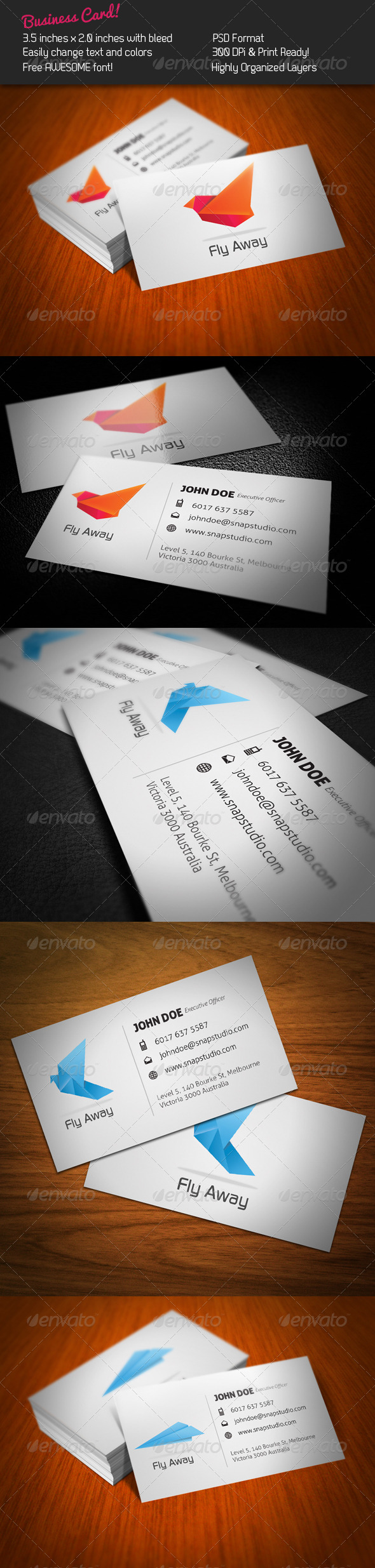GraphicRiver Fly Business Card 241752