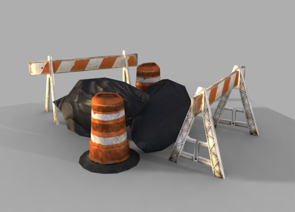 3DOcean Construction Props 3D Models -  Deco Objects 80484
