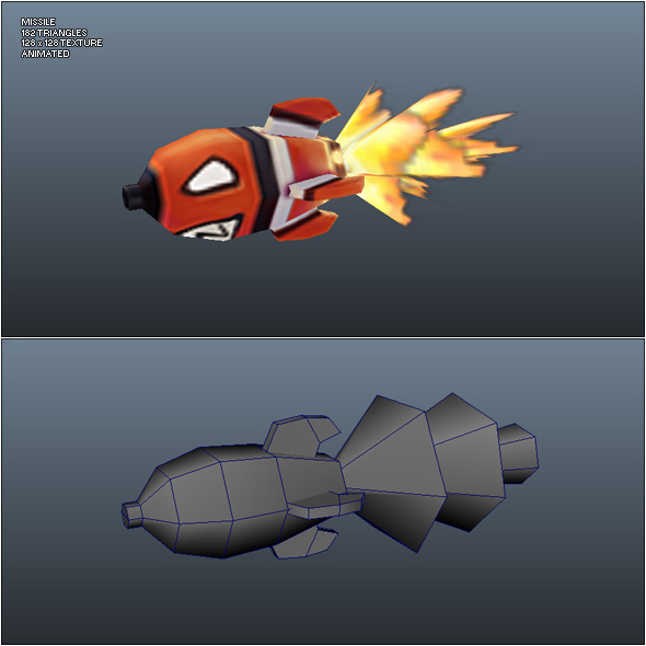 3DOcean Low Poly Missile 241781