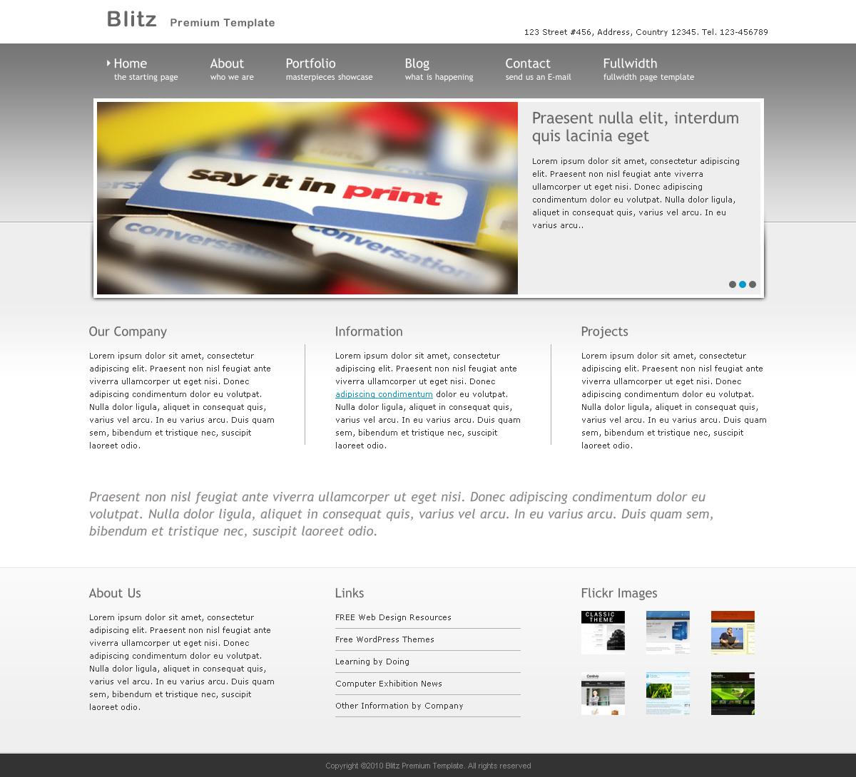 Blitz - Premium Business Template - Clean Design