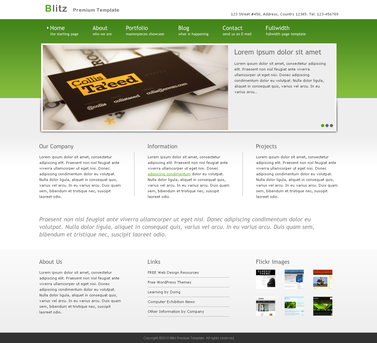 Blitz - Premium Business Template - Clean Design