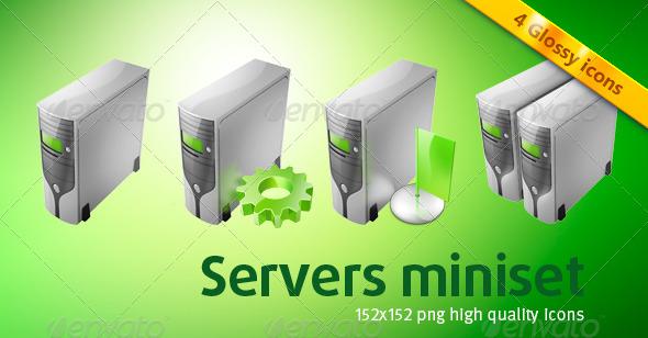 GraphicRiver 4 Server Icons 241716