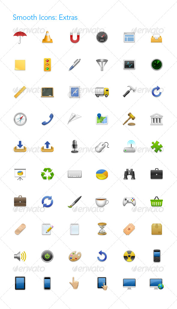 GraphicRiver Smooth Icons Extras 242033