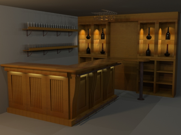 Highpoly detailed Bar - 3DOcean Item for Sale
