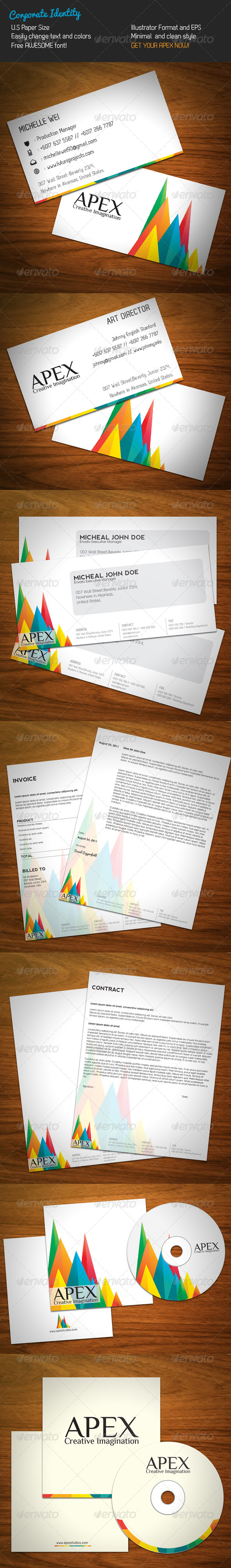 Apex Corporate Identity - Stationery Print Templates