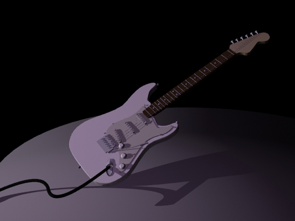 3DOcean Guitar Based on Fender 242120