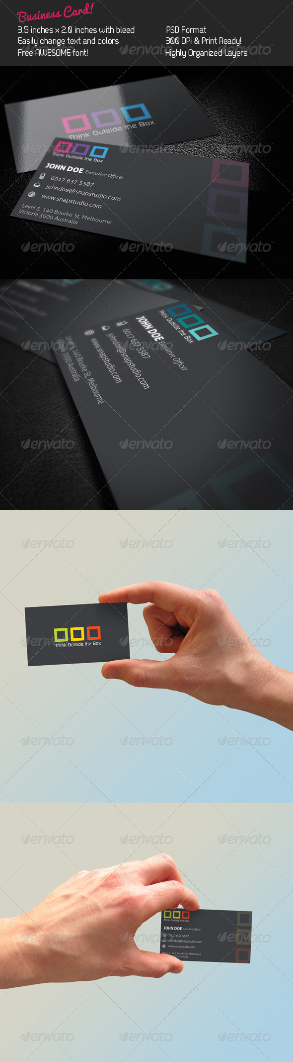 Box Business Card - Corporate Business Cards