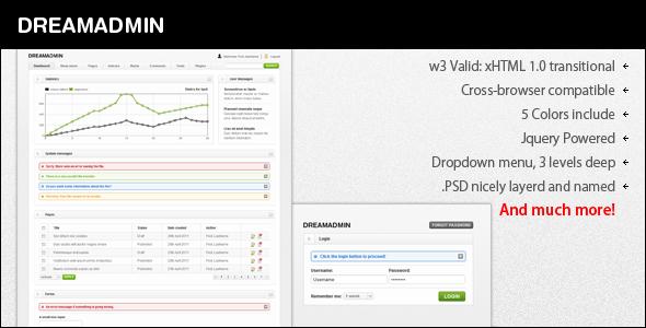 DreamAdmin - Admin Templates Site Templates