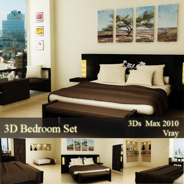 3DOcean Modern Bedroom 242414