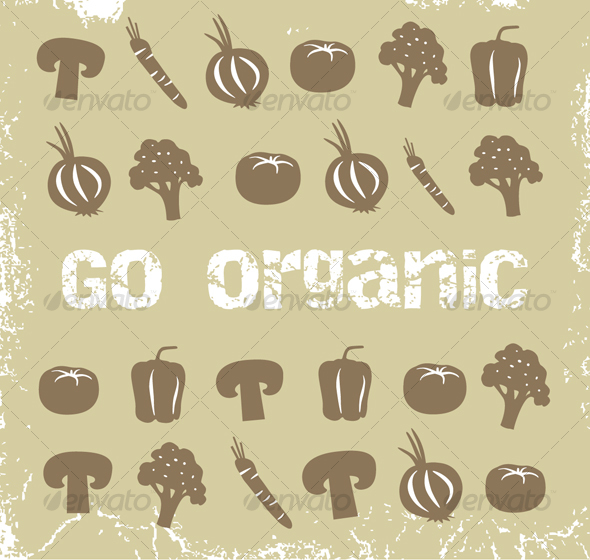 GraphicRiver Collection of organic vegetables 80669
