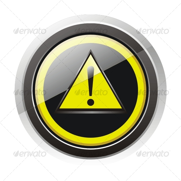 Glossy warning sign icon