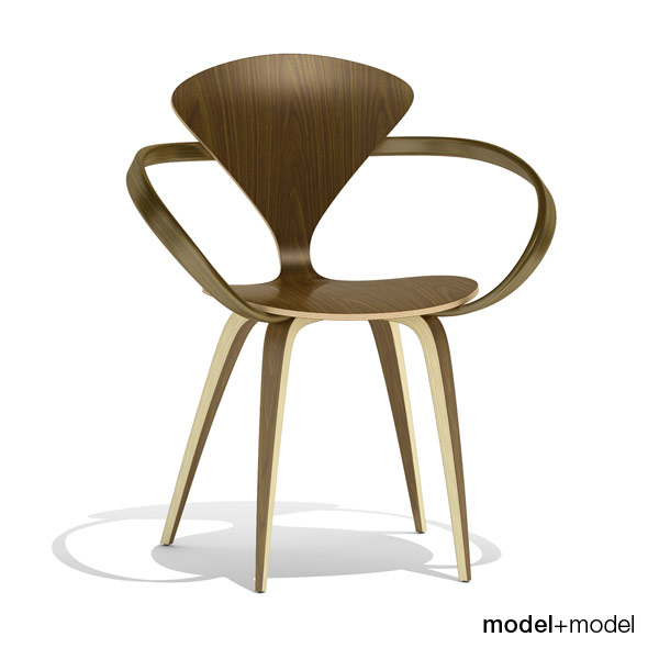 Cherner Wood base chair - 3DOcean Item for Sale