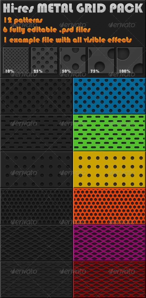 GraphicRiver 12 Hi-Res Metal Grid 242593