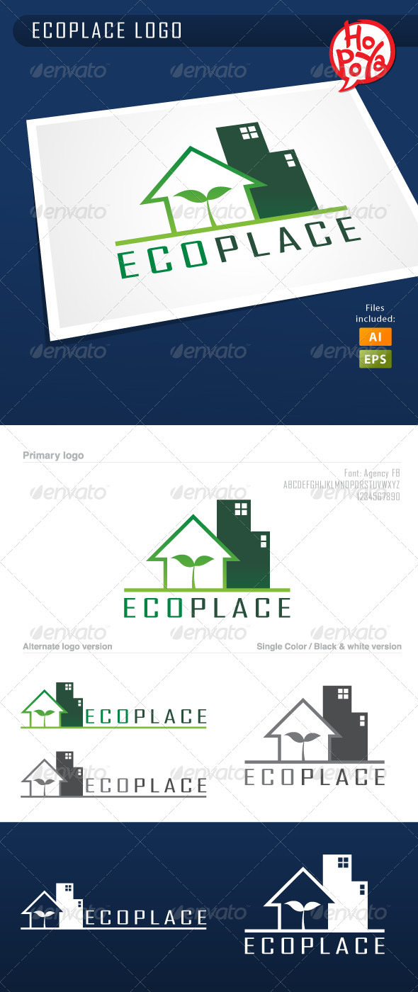 Ecoplace Logo - Buildings Logo Templates