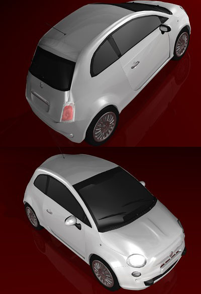 high poly fiat 500 - 3DOcean Item for Sale