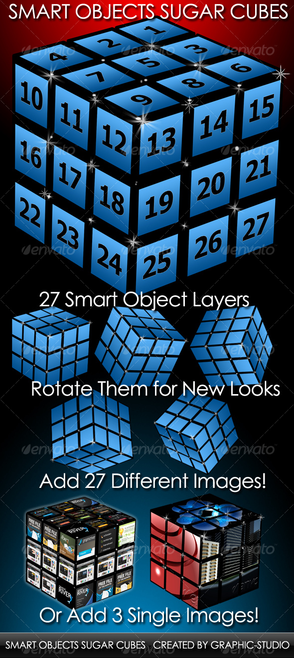 GraphicRiver Smart Objects Sugar Cube 80786