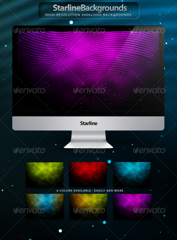 Starline Backgrounds - Backgrounds Graphics
