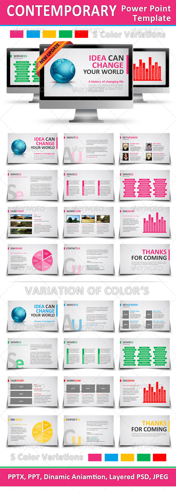 GraphicRiver Contemporary Power Point Template 165455