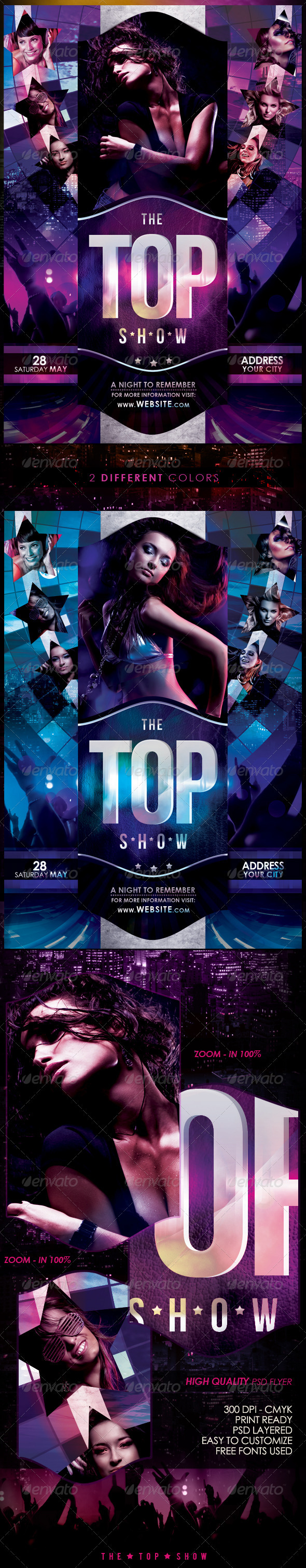 The Top Show Flyer Template - Clubs & Parties Events