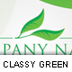 Classy Green Elegant Business Card - GraphicRiver Item for Sale