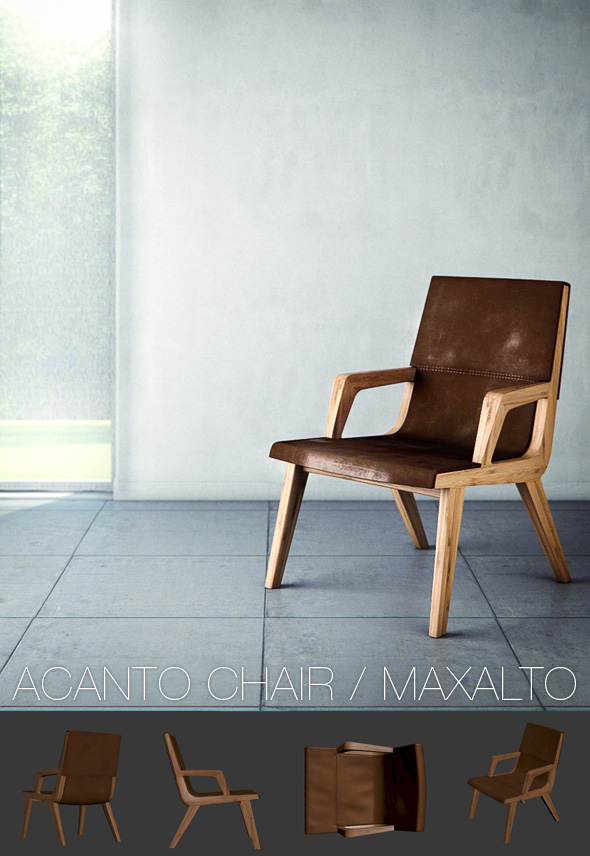 Acanto Chair / Maxalto - 3DOcean Item for Sale
