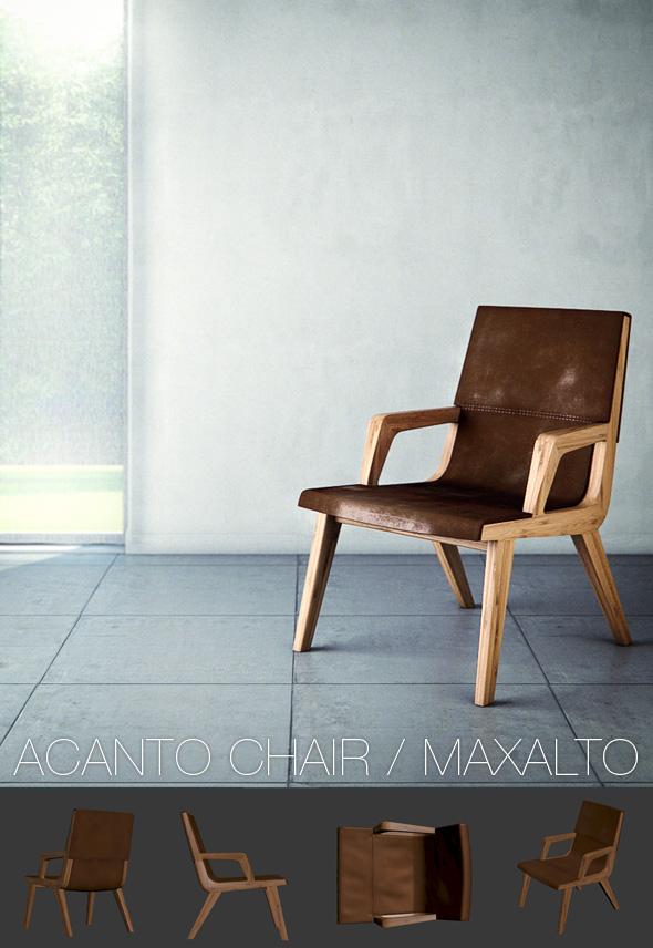 3DOcean Acanto Chair Maxalto 222039