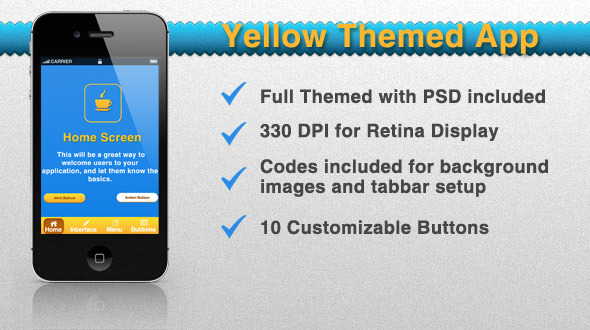 CodeCanyon Yellow Themed App 2148122