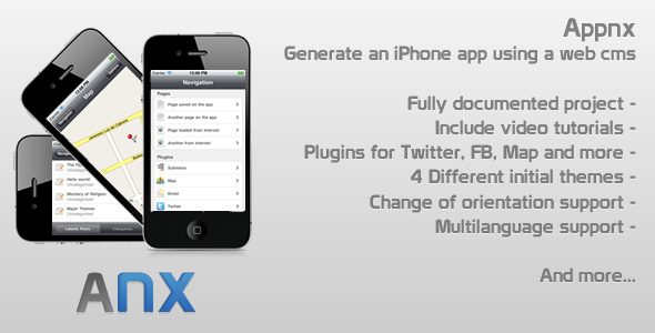 Appnx - Create an iPhone App using a web CMS