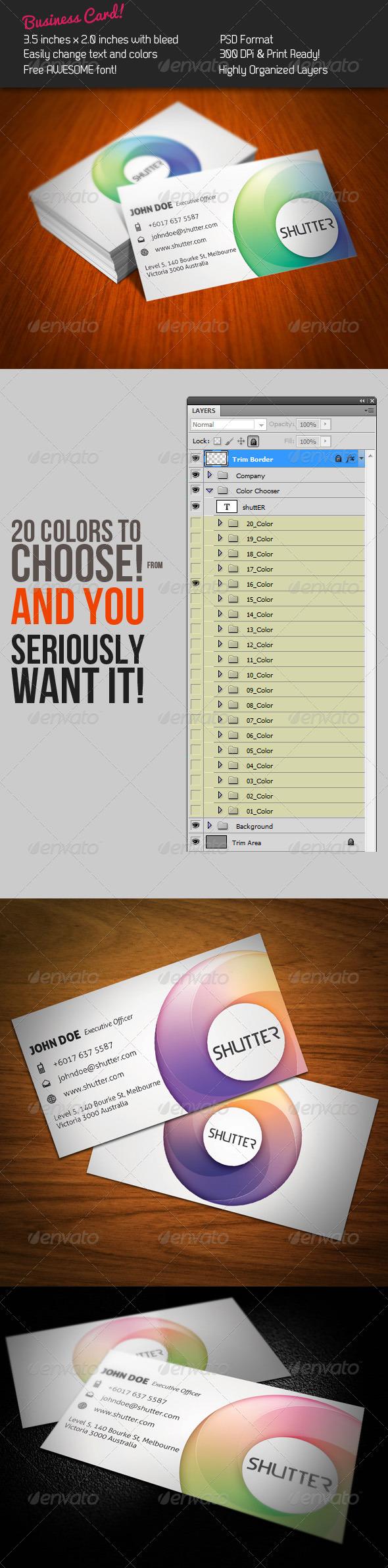 Shutter Business Card - Creative Business Cards