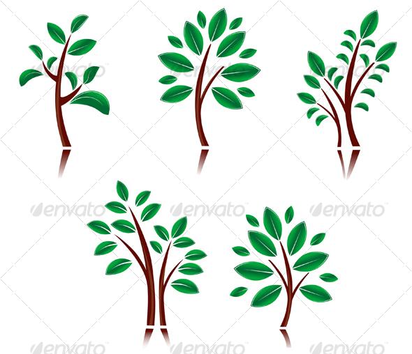 GraphicRiver Set of tree symbols 80957