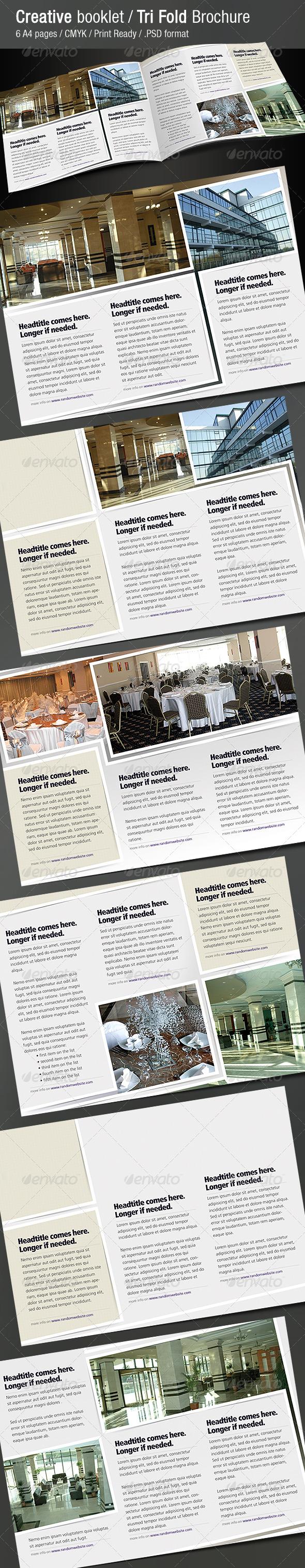 GraphicRiver Creative Booklet Tri Fold Brochure 242346