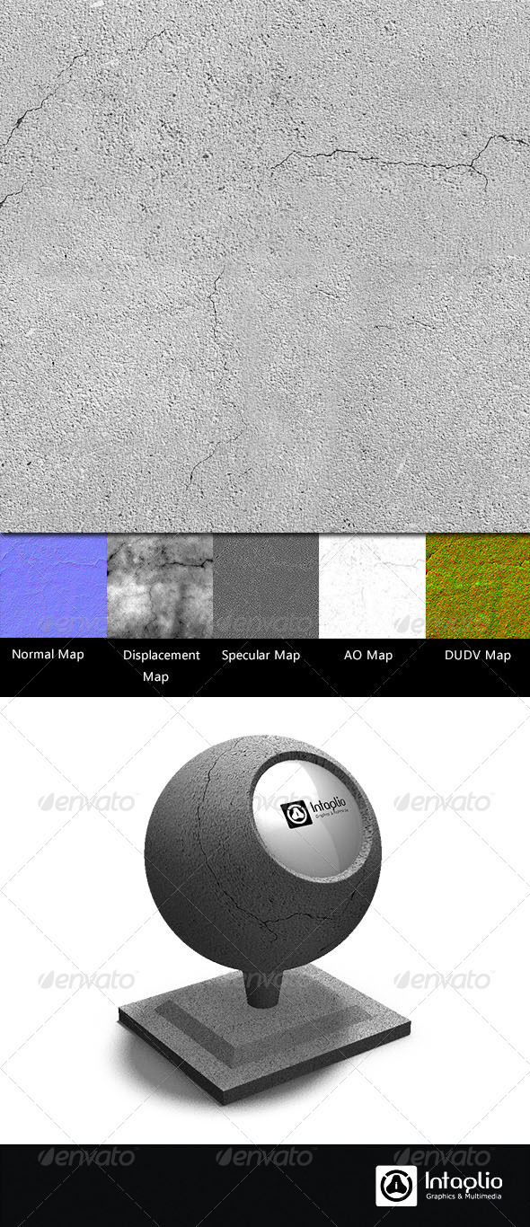 3DOcean Cracked Cement Wall Seamless Texture 2150826