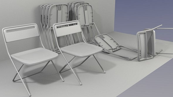 Folding Chair - 3DOcean Item for Sale