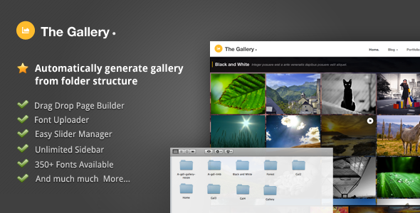 ThemeForest The Gallery Automatically Generated Gallery 2128369