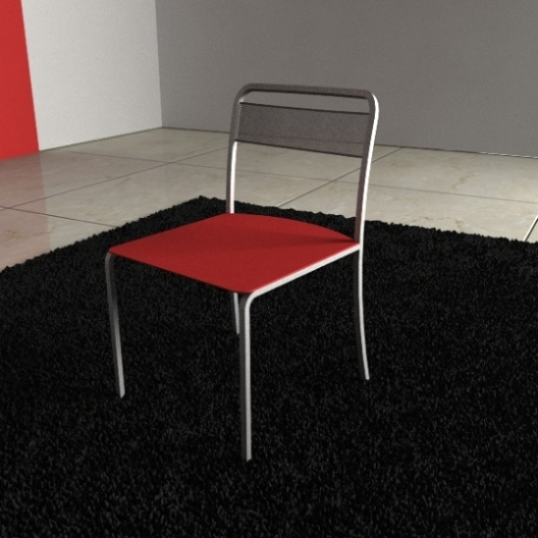 Calligaris Chair Steel - 3DOcean Item for Sale