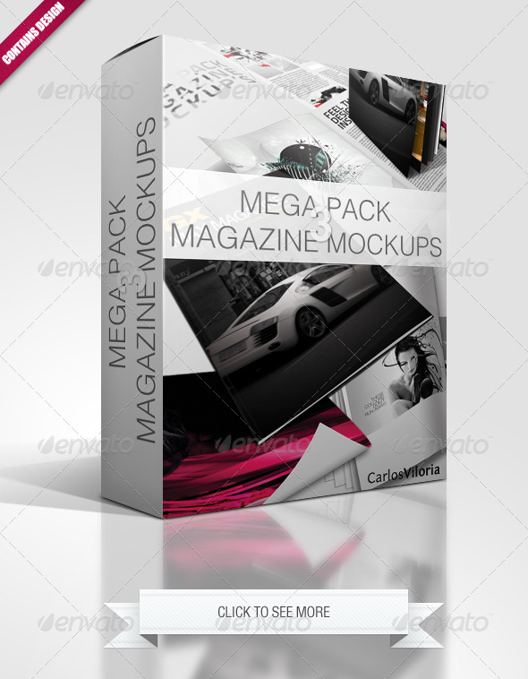 Mega Pack Magazine Mockups 3 - Magazines Print Templates