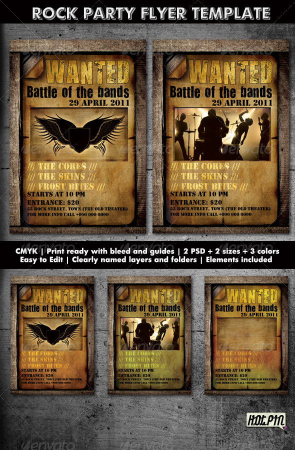 GraphicRiver ROCK PARTY CONCERT FLYER TEMPLATE 2 222931