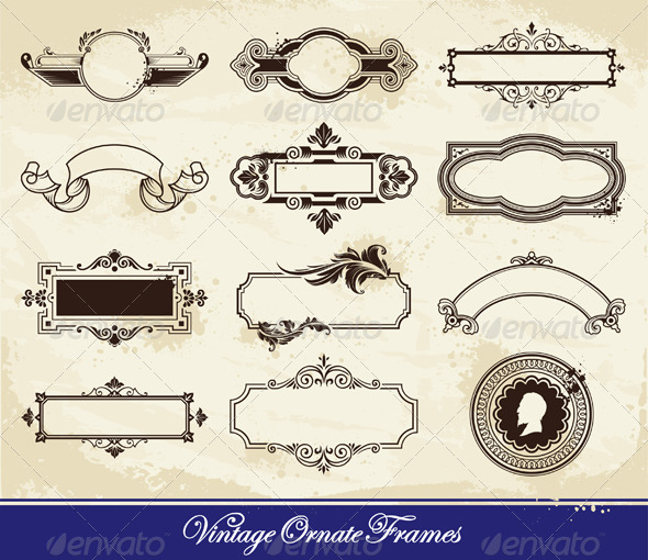 GraphicRiver Vector set of vintage frames 244100