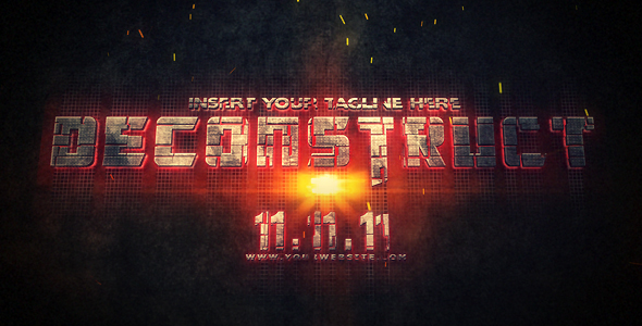 After Effects Project - VideoHive Deconstruct 244102