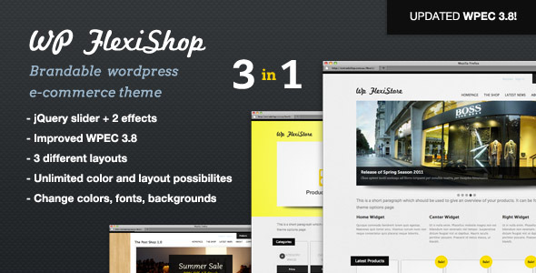 WP FlexiShop - A Versatile WP E-Commerce Theme - ThemeForest Item for Sale