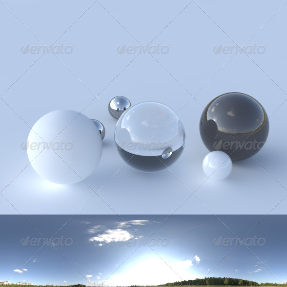 HDRI spherical panorama - 1823- clear sky - 3DOcean Item for Sale