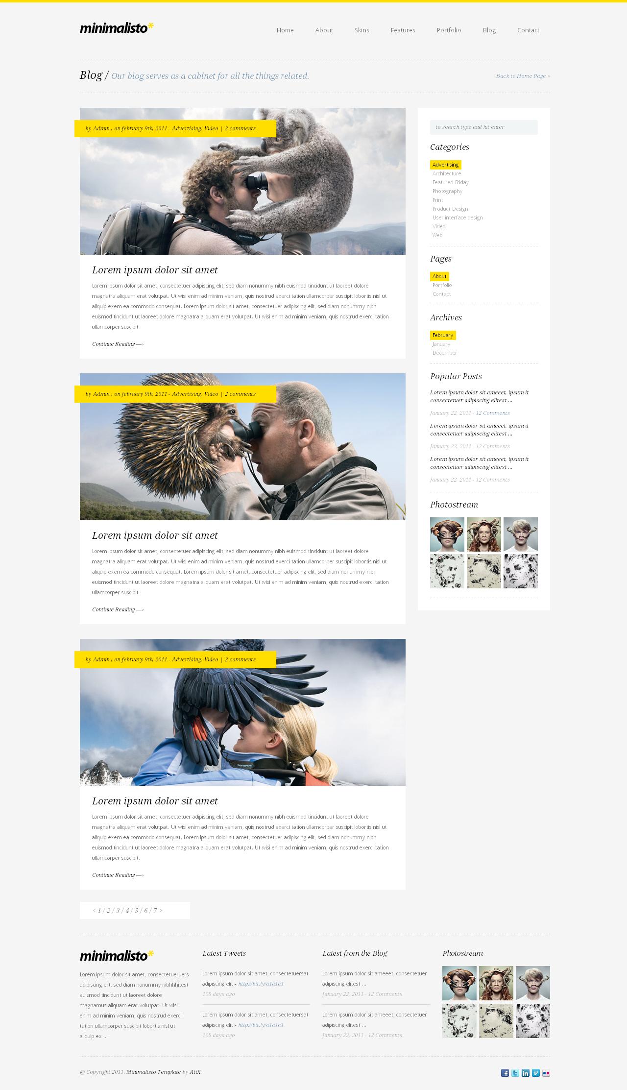Minimalisto - Premium WordPress Theme