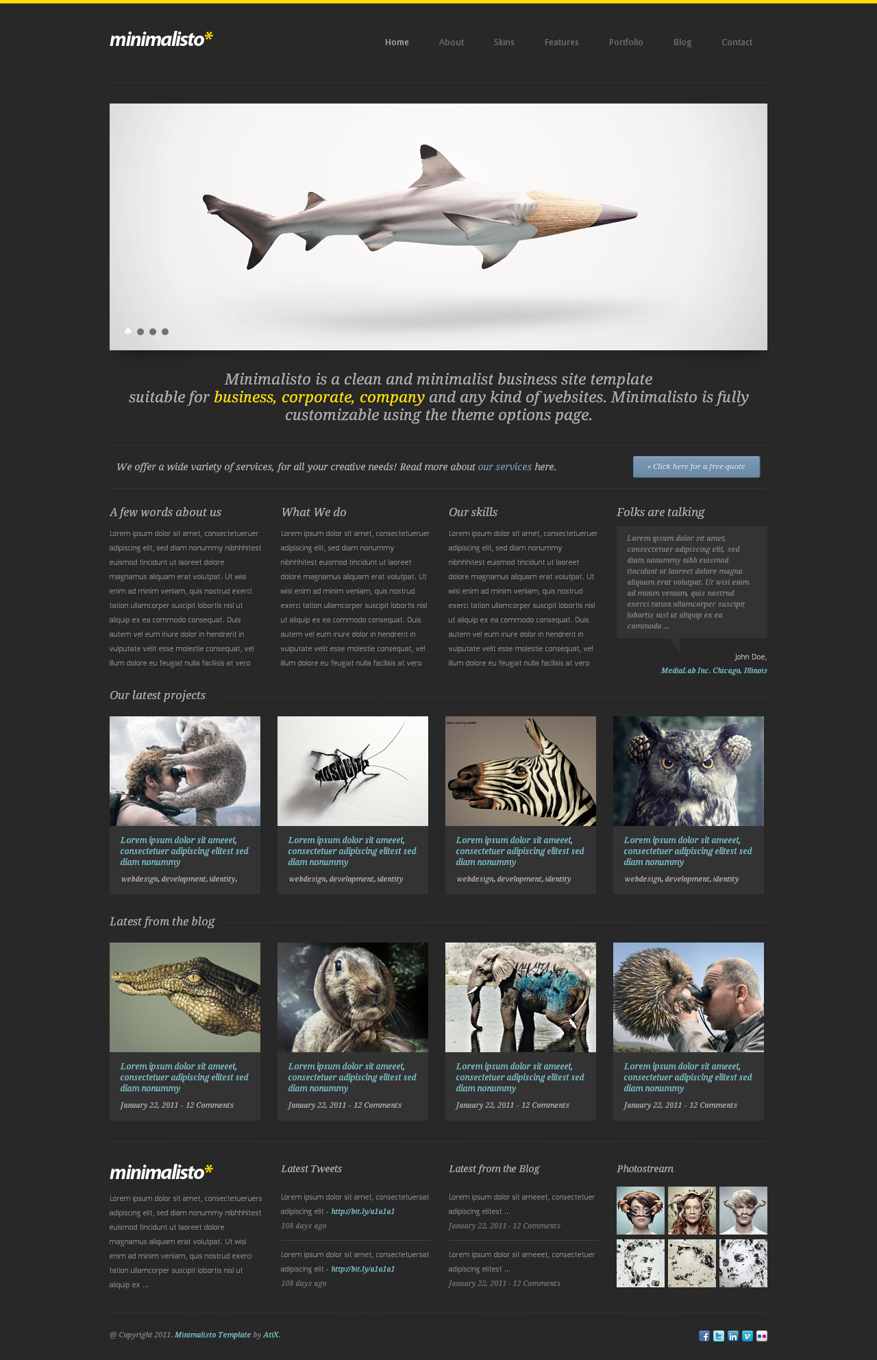 Minimalisto - Premium WordPress Theme