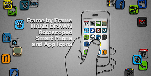VideoHive Hand Drawn Smart Phone 2156257