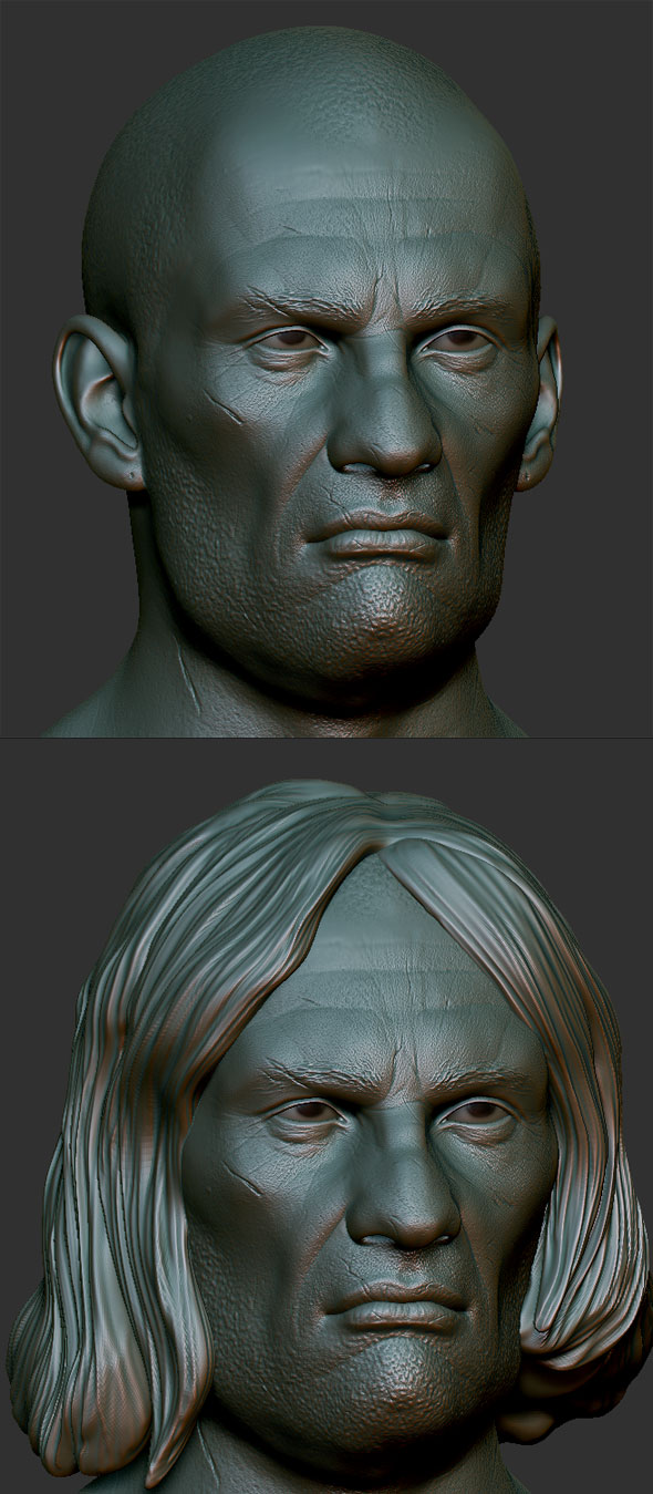 3DOcean Bad guy head Zbrush Sculpt 81185