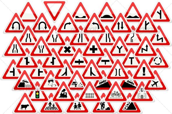 GraphicRiver cautionary signs 81203