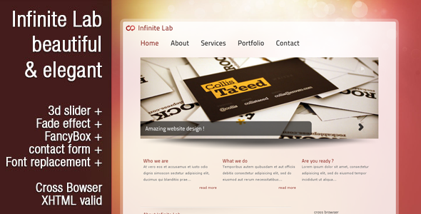 Infinite Lab - Beautiful & Elegant template