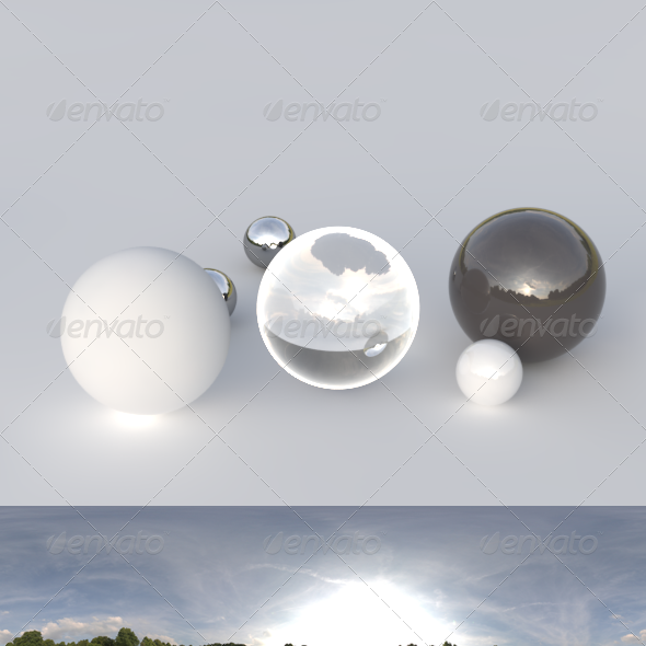3DOcean HDRI spherical panorama 1909- cloudy sky 244585