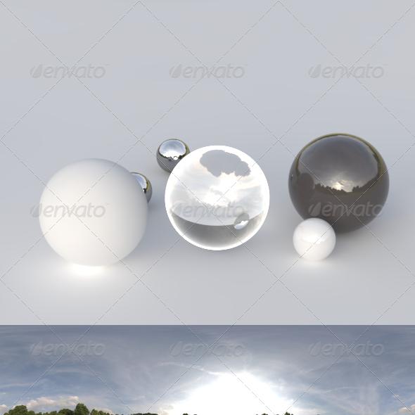 HDRI spherical panorama - 1909- cloudy sky - 3DOcean Item for Sale