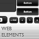 Black&White WEB Elements - GraphicRiver Item for Sale